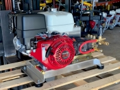 Cold Water Pressure Washer  8 GPM @ 2500 PSI Belt Drive - SKID MOUNT