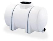 Water Tank 525 Gallon Horizontal Leg with Bands