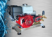 Cold Water Pressure Washer  5.5 GPM @ 3000 PSI Belt Drive - SKID MOUNT