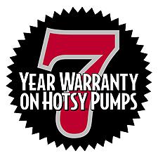 7 year warranty on Hotsy pumps
